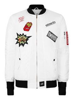 Sixth June white badged bomber jacket - that should be mine!