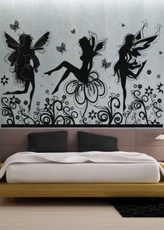 Fairies 5 uBer Decals Wall Decal Vinyl Decor Art by uBerDecals