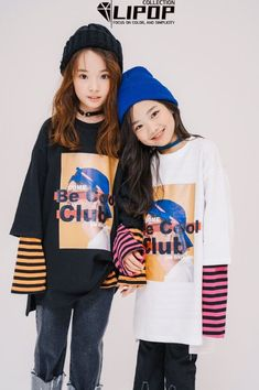 We have not seen Lipop this colorful before. But it works great with their streetwear look. Lipop makes great streetwear looks for girls and some for boys. See their Spring 2018 collection at: www. Preteen Girls Fashion, Baby Girl Fashion, Teen Fashion, Korean Babies, Asian Babies, Na Haeun, Fashion Designer Game, Ulzzang Kids, Kids Clothes Sale
