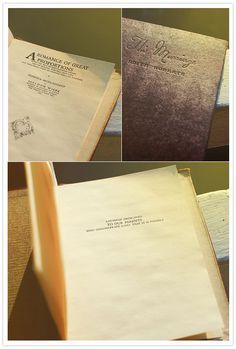 hardcover book invitations