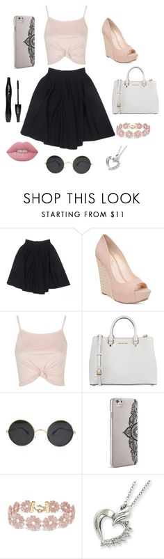 """Untitled #119"" by lorenxbeech02 ❤ liked on Polyvore featuring Le Mont St. Michel, Jessica Simpson, Topshop, MICHAEL Michael Kors, Nanette Lepore, BaubleBar, Lime Crime and Lancôme"
