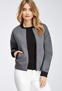 Step out in a hot new bomber jacket this winter. Whether you're looking for chic metallic or utility green, Forever 21 has it all. Ss15 Fashion, Fashion Outfits, Red Bomber Jacket, Coats For Women, Clothes For Women, Baby Dress Patterns, School Fashion, F21, Outerwear Women