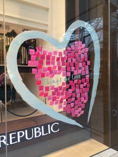 Banana Republic Valentines Day 2015 Window