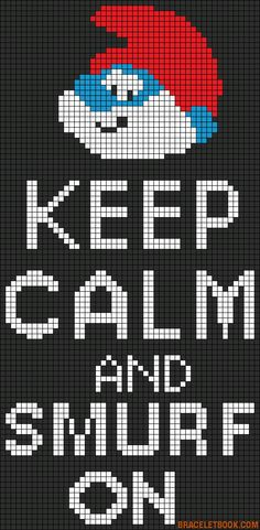 Keep Calm and Smurf On perler bead pattern