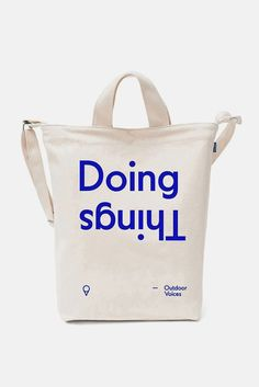 Travel Tote, Cotton Bag, Cotton Canvas, Graphic Design Typography, Bold Typography, Packaging Design, Bag Packaging, Branding Design, Pretty Packaging