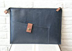 Leather Macbook case, leather laptop, notebook case for 13/15'' Macbook, clutch, mens, women, unisex. Handmade laptop cover, 03006