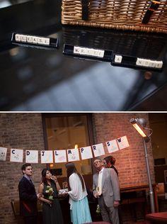 An Eclectic Orange & Scrabble Wedding
