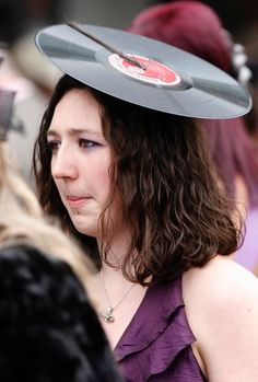 Shes setting a record with this hat.  Kentucky Derby Hats