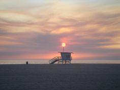 Sunset over Santa Monica, CA