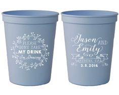 Wedding Favors Don't Take My Drink I'm Dancing Personalized Cups Monogrammed Wedding Favors Custom Wedding Cups Bachelorette Cups 1429 by SipHipHooray