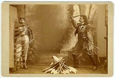 circus knife thrower 1890s