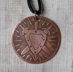 Medalhão De Ogum - Espadas, Escudo E Lança - Orixás - R$ 38,00