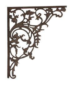 Cast Iron Shelf Brackets, Wall Shelf Brackets, Large Wall Shelves, Decorative Shelf Brackets, Rust Paint, Jugendstil Design, Antique Hardware, Iron Wall, It Cast