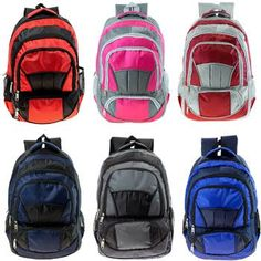 77a49a5a45 Adult Padded Backpack - 6 Assorted Colors