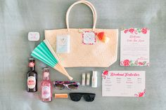 This couple had the cutest welcome bags for their guests for their destination beach wedding. This welcome bag fit the theme so well by including a beach bag, some alcohol, sunglasses, a fan, some mints, chapstick, and more. It also including important information about the welcome dinner and the schedule for the weekend. Planned by Best Bride. Instagram - @bestbride_ #BestBride #BestBrideLA #LosAngeles #LA #LAWedding #LosAngelesWedding #WelcomeBags #BeachWedding #DestinationWedding…