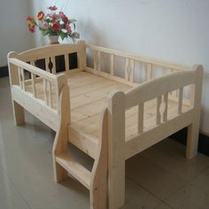 25 DIY Wood Projects Wood is a very versatile material… it can be used for DIY home decor projects, Pallet Furniture, Kids Furniture, Furniture Design, Kids Bedroom Designs, Kids Room Design, Diy Toddler Bed, Childrens Beds, Baby Bedroom, Diy Bed