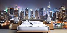 New York Wallpaper Murals Decor on Bedroom Ideas