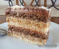 Minjon torta - Recepti na brzinu Torte Recepti, Kolaci I Torte, Baking Recipes, Cookie Recipes, Dessert Recipes, Posne Torte, Torte Cake, Cake Cookies, Mini Desserts