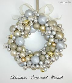 Diy bauble wreath diy crafts for moms crafty 2 the corediy my next project for sure how to make your own diy ornament wreath using only dollar store items solutioingenieria Choice Image