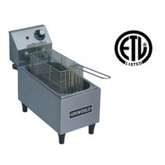 UniWorld Electric Countertop Deep Fryer Single Basket Stainless Steel UF-1A
