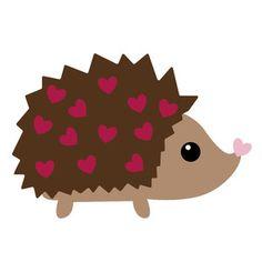 Valentine hedgehog