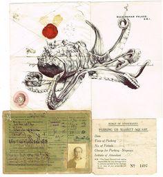 Mark Powell - octopus - ballpoint pen art