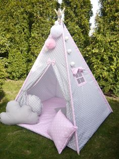 Children's teepee playtent tipi zelt wigwam kids by MYSZACRAFTS