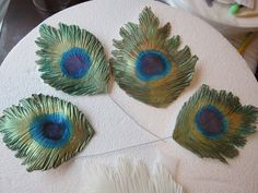 Cakegirl on the Run: Gum Paste Peacock Feather Tutorial