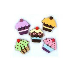 Kit Botões Cupcake - Kassy