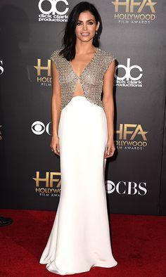 Jenna Dewan Tatum in Reem Acra at the 2014 Hollywood Film Awards