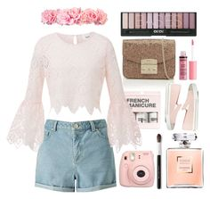 """◇SPRING FLICK◇"" by tamsy13 ❤ liked on Polyvore featuring H&M, Furla, Miss Selfridge, Fujifilm, Miu Miu, Bare Escentuals, Charlotte Russe, Spring, floral and flower"