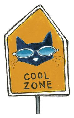 Pete the Cat Cool Zone sign