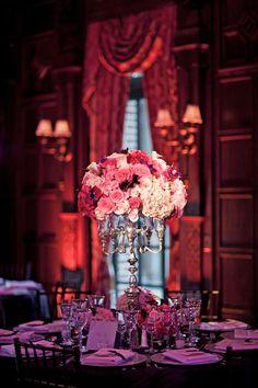Antique Candélabre with floral bouquet.  Photograph by: Heather Waraksa
