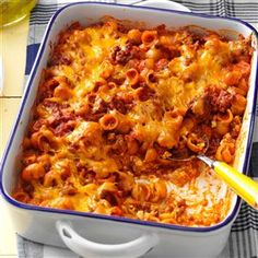 Sloppy Joe Pasta Recipe -Since I found this quick-to-fix recipe a few years ago, it's become a regular part of my menu plans. Everyone loves the combination of sloppy joe ingredients, shell pasta and cheddar cheese. —Lynne Leih, Idyllwild, California