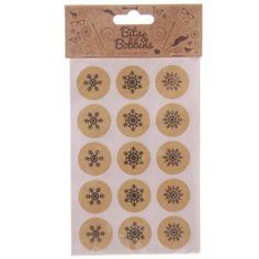 Schneeflocken-Sticker-60-StueckWeihnachten-rund-Bits-amp-Bobbins