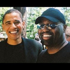 #President #Obama with the Legendary #FrankieKnuckles!! Frankie Knucles will be headlining the Cielo #Halloween Bash Saturday 10/26!