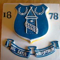 Everton football club cake Football cake ideas Pinterest