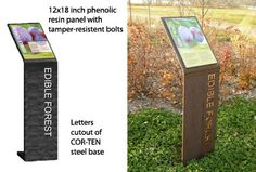 Corten sign support for a polycarbonate sign?  Perhaps just adds too much costs.