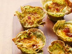 Crepe Quiche Lorraine recipe from Alton Brown via Food Network. Do these look wonderful, or what!!!!