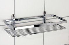 Satina Étagère de douche rectangulaire fabriquée en Suède 25 x 11 x 4 cm