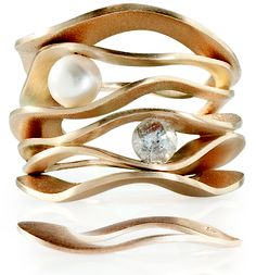A Great Seller! Nada G Mood Swings Double #rings. Available with #pearl or icy #diamond. Recommended to be worn as a mix.