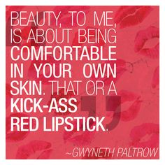 red lipstick is always a good idea!