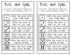 Roll and Spell - original from Classity Class on TeachersNotebook.com (1 page)