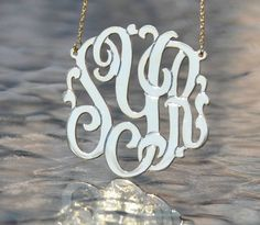 Monogram Necklaces With Chain In 3 Sizes-monogram necklace, monogram jewelry, monogram necklace gold, monogram necklace silver, diamond monogram necklace, cz monogram necklace, baby monogram necklace, monogram jewelry gifts, bridal monogram necklace, bridal monogram gifts, wedding monogram gifts, wedding monogram jewelry, allyson james, jane basch, jane basch monogram jewelry, jane basch monogram necklace,