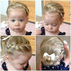 How to make beautiful haircuts to your kids Girls Hairdos, Princess Hairstyles, Flower Girl Hairstyles, Little Girl Hairstyles, Pretty Hairstyles, Wedding Hairstyles, Beautiful Haircuts, Cute Toddler Hairstyles, Disney Hairstyles