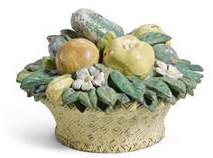 Italian, Florence, 17th/18th Century  BASKET OF FRUIT AND VEGETABLES