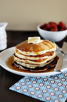 This Sour Cream Banana Pancake recipe creates the most fluffy and tender pancakes, packed with flavor!