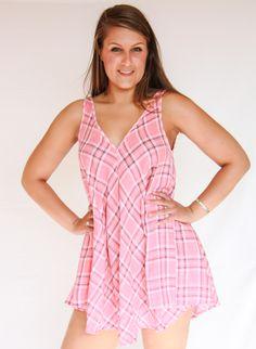 Plaid Tunic Dress - Kevra Boutique*
