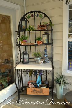 large bakers rack top only google search decorating pinterest bakers rack and bird houses. Black Bedroom Furniture Sets. Home Design Ideas