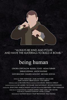 Being Human - Tom McNair http://society6.com/britishindie/Being-Human-Tom-McNair_Print http://www.etsy.com/uk/listing/163359764/being-human-alternative-television?re...